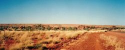 Overlooking the Devil's Marbels just north of Wauchope NT on the way to 1994 AGM at Alice Springs - April 1994