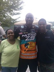 Mr. Kendall Newsom from Miami Dolphins NFL supporting CMHA