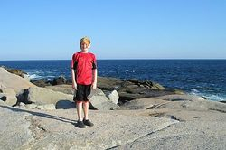 Mike at Peggy's Cove