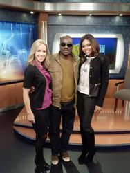 Sarah, Clifton Powell & Demetria McKinney At WBAL's 11 TV Hill News on November 8, 2013