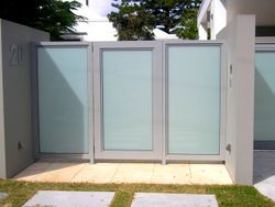 TRANSLUCENT GLASS AND ALUMINIUM GATES