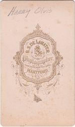 R. S. De Lamater, photographer, of Hartford, Connecticut - back