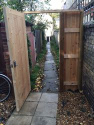 Gate fitted