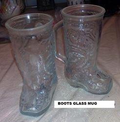 GLASS BOOTS MUG