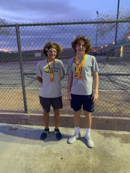 JC and Joseph 2nd place boys 16s doubles