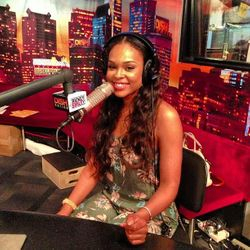 Demetria McKinney on the 'Rickey Smiley Morning Show' on August 16, 2013.