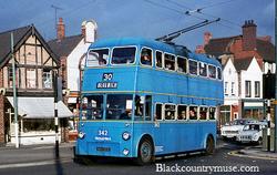 Bloxwich Trolly Bus. c1980s.