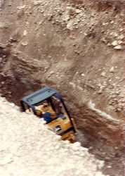 Excavations on community septic sytem