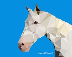 """White Horse"" - Low Poly Art"