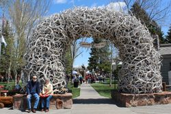 Full View of the antler arch.