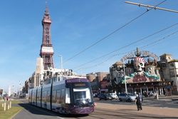 Flexity2 002 approaching Blackpool Tower