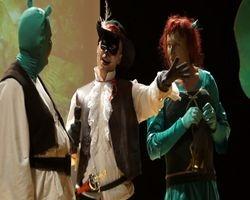 Gatto con gli stivali con Shrek e Fiona