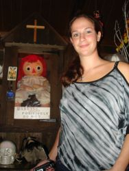 Julie Rose with the real Anna Bell Doll