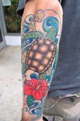 Jon's custom sea turtle based on my art