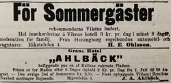 Vikens hotell 1938