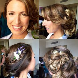 Soft updo with plait for the lovely Dallas who was from America to get married in the UK