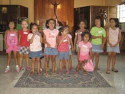 Little Girls in Holy Family Chapel