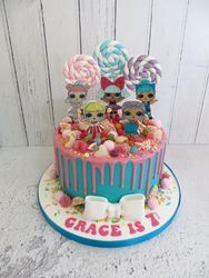 Grace's 7th Birthday drip cake