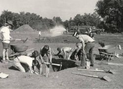 1971 excavation of grounds