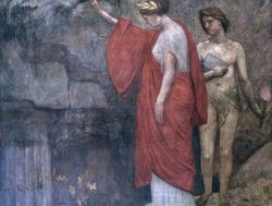 Puvis, Philosophy, detail, Boston Public Library