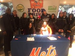 88th and 84th Precinct Explorers at the 2016 New York Mets Food Drive 2016 City Harvest 01/19/2016