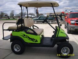 2006 Precedent with new paint job, rear flip seat, graphics, lift kit and tires and wheels