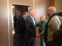 Dr Perkins meets former British Prime Minister, Tony Blair