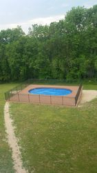 Above Ground Pool Installing Fence & Skirting 5