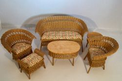 Light stain wicker furniture
