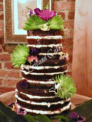 Naked/Bare wedding cake