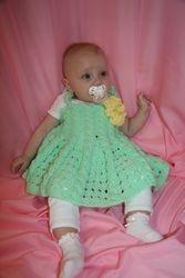 """""""Fancy Green"""" Baby Dress"""