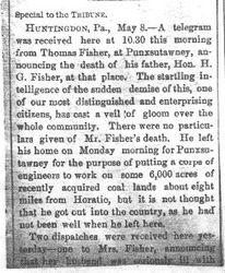 Fisher, Horatio Gates - Part 1 - 1890