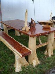 Red Cedar family dining table