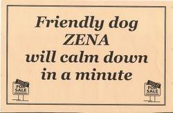 Zena Warrior Puppy Royko: Fall, 2000 - June 20, 2012