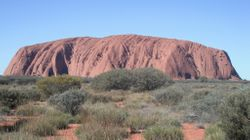 Ayers Rock from the Sunset Viewing Area