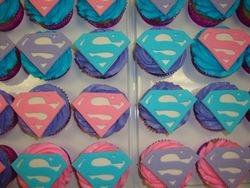 fondant S logo topper cupcakes $4.50 each