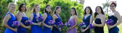 A bevy of beauties in blue...and purple