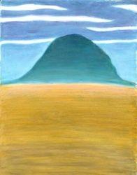 Blue Hill, Oil Pastel, 11x14, Original Sold