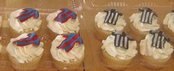 Soccer Jersey Cupcakes