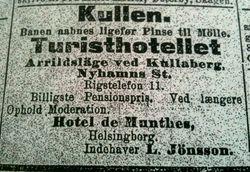 Turisthotellet Kullen 1910