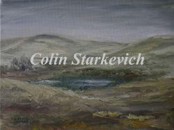 """Prairie Wetland During Spring (9 by 12"""" oil on canvas)"""
