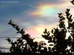 Iridescent clouds