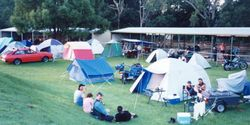 Camping ground at Esk Odyssey - Mar 1999