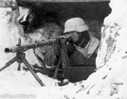 MG34 using bi-pod from fixed position: