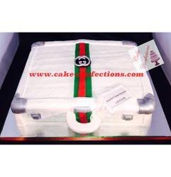 White Gucci Briefcase Cake