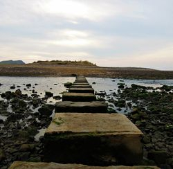 Stepping stones across Pennard Pill