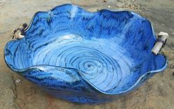 Undulating Ripples Bowl ~ with Driftwood Embellishments