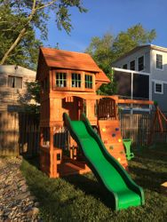 Backyard Discovery Liberty II swing set assembly in Fairfax Virginia