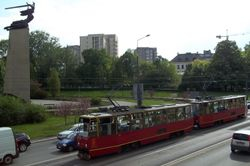 Konstal 105Ns and the Nike Monument