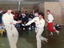 Karate wedstrijd tegen Bart
